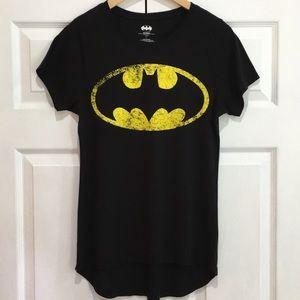 BATMAN Short Sleeve Hi-Low T Shirt